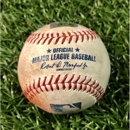 Photo of Game Used Baseball: Francisco Lindor single off Jalen Beeks - August 31, 2019 v CLE