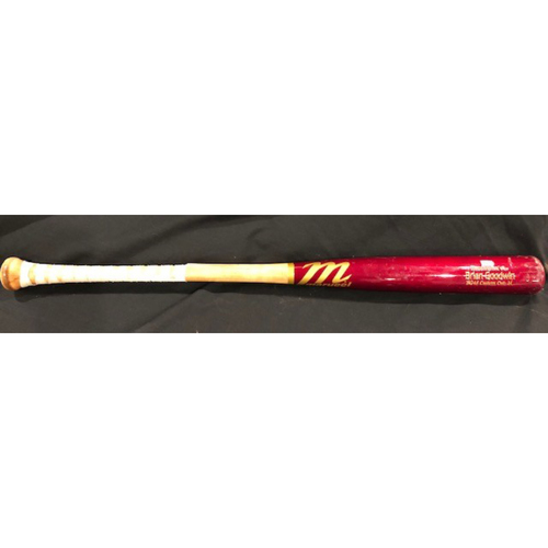 Photo of Brian Goodwin -- Game-Used Broken Bat -- From 9/1/20 STL vs. CIN -- Ground Out -- Black Friday Free Shipping