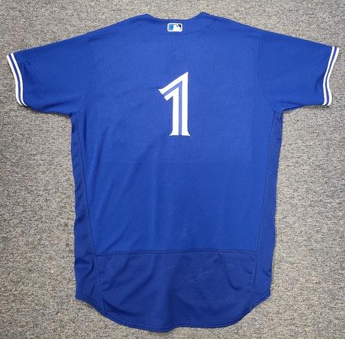 Photo of Authenticated Team Issued Spring Training Jersey: #1 Shun Yamaguchi (2021 Season). Size 50.