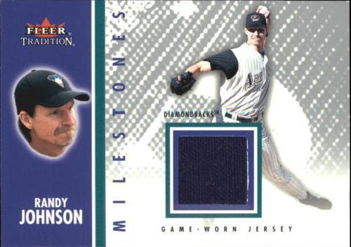 Photo of 2003 Fleer Tradition Update Milestones Game Jersey #RJ Randy Johnson