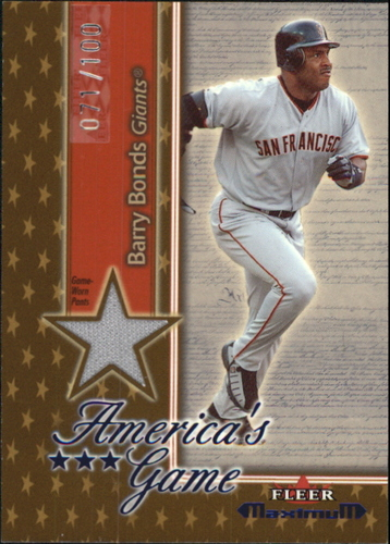 Photo of 2002 Fleer Maximum Americas Game Jersey Gold #3 Barry Bonds