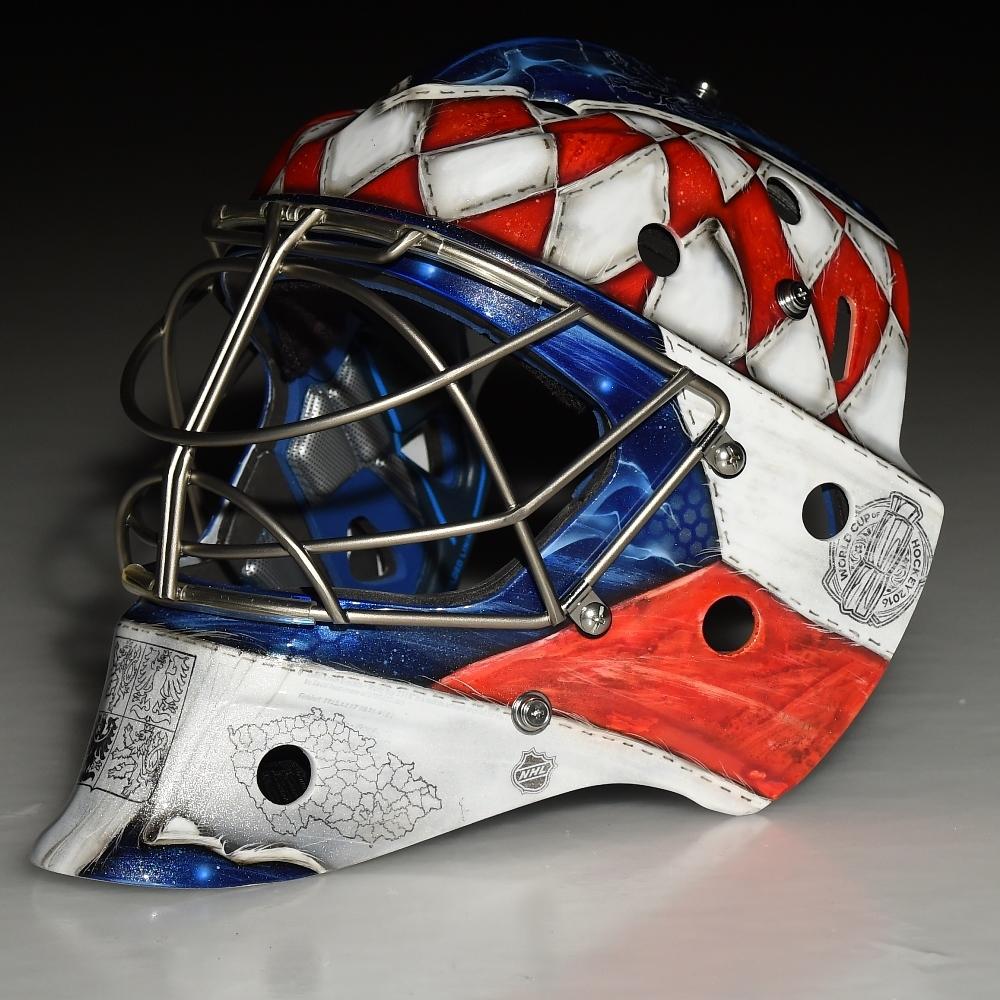 Custom Painted 2016 World Cup Of Hockey Goalie Mask Team Czech