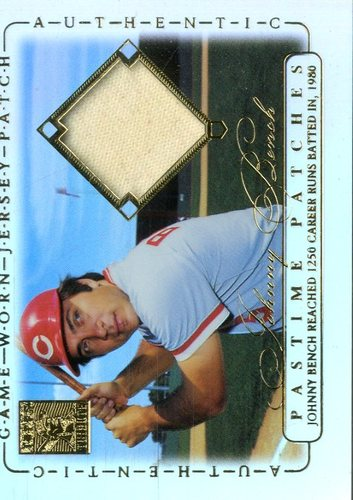 Photo of 2002 Topps Tribute Pastime Patches #JB Johnny Bench B