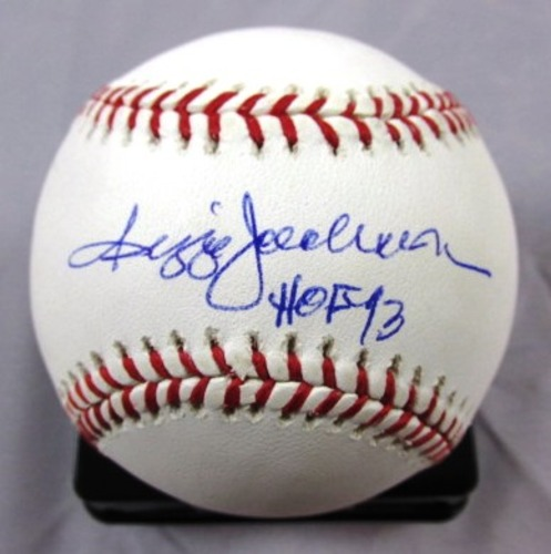 "Photo of Reggie Jackson ""HOF 93"" Autographed Baseball"