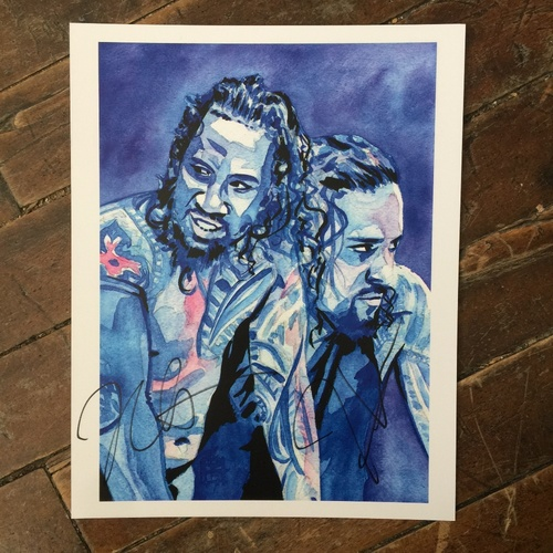 The Usos SIGNED 11 x 14 Rob Schamberger Print