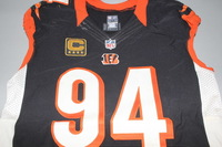 NFL INTERNATIONAL SERIES - BENGALS DOMATA PEKO GAME WORN BENGALS JERSEY (OCTOBER 30, 2016)