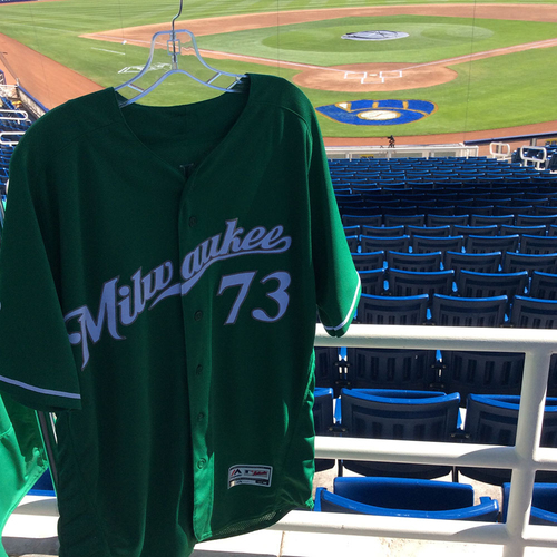 Photo of Marcos Diplan 2018 Team-Issued St. Patrick's Day Jersey