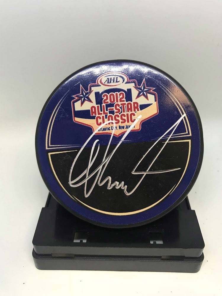 2012 AHL All-Star Classic Souvenir Puck Signed by #33 Alexander Urbom