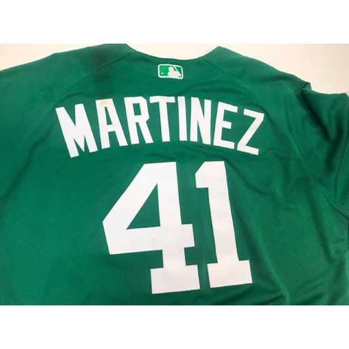 Photo of Game-Used St. Patrick's Day Jersey: Victor Martinez