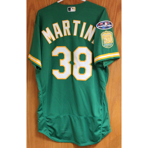 Team Issued Nick Martini 2018 Jersey w/ Postseason Patch