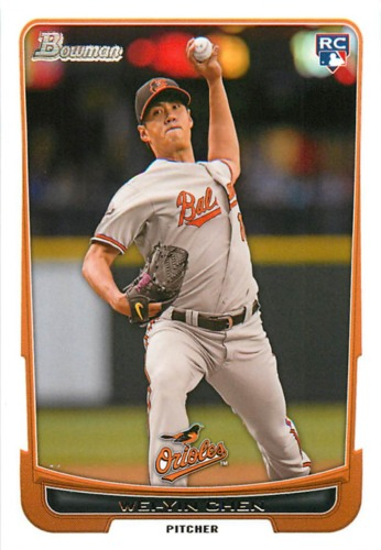 Photo of 2012 Bowman Draft #45 Wei-Yin Chen RC
