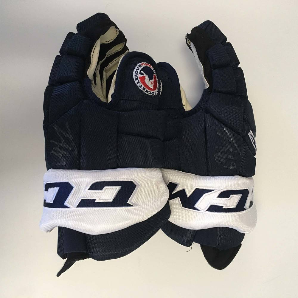 2019 Lexus AHL All-Star Classic Gloves Worn and Signed by #9 Trevor Moore