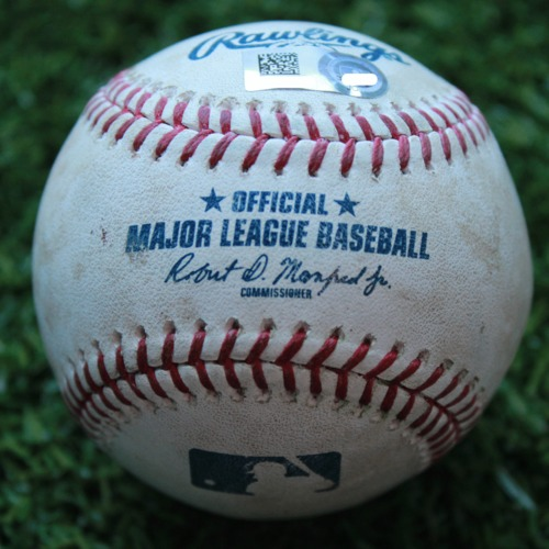 Photo of Game-Used Baseball: Avisail Garcia 94th Career Double (TB @ KC - 5/1/19)