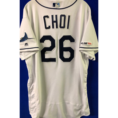 Photo of 2019 Opening Day Game Used Jersey: Ji-Man Choi - March 28, 29, 30 v HOU, April 1 v COL, April 17 v BAL - 1 HOME RUN