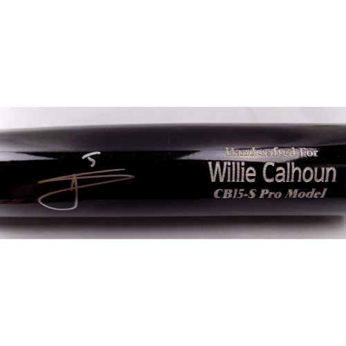 Photo of Willie Calhoun Autographed Bat
