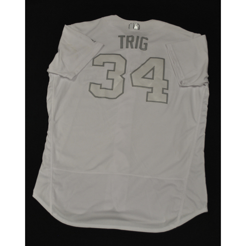"Photo of Craig ""TRIG"" Stammen San Diego Padres Game-Used 2019 Players' Weekend Jersey"