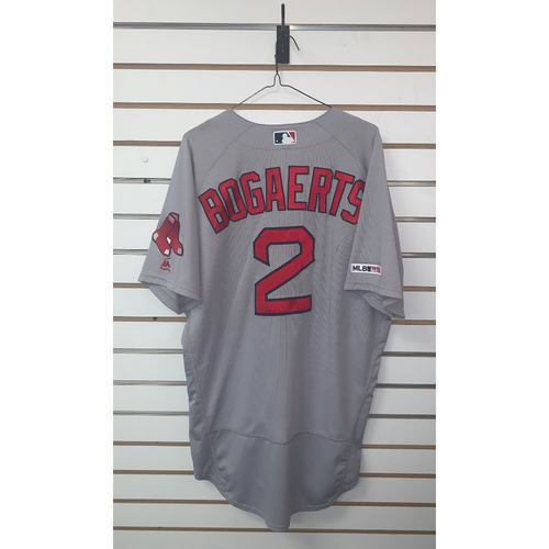 Photo of Xander Bogaerts Game Used May 20, 2019 Road Jersey - Home Run, 3 RBIs