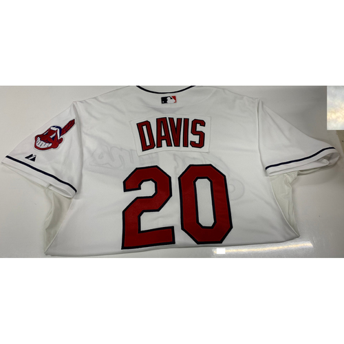 Photo of Rajai Davis White Team-Issued Home Jersey
