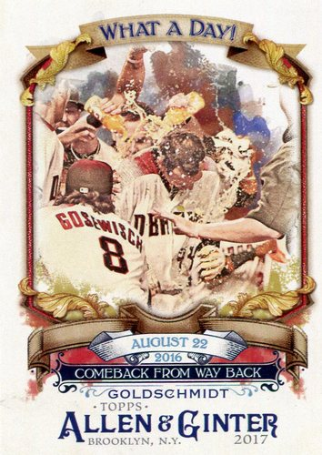 Photo of 2017 Topps Allen and Ginter What a Day #WAD100 Paul Goldschmidt
