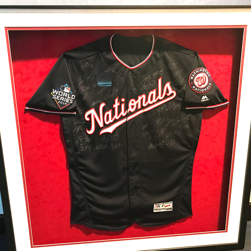 Photo of Washington Nationals Philanthropies Fall Ball Auction: 2019 Team Signed Jersey