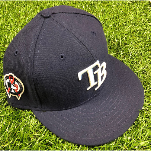 Photo of Game Used Cap: Diego Castillo - September 11, 2019 at TEX
