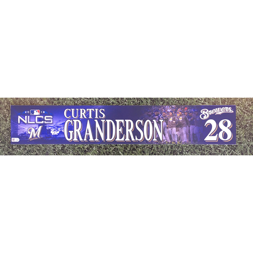 Photo of Curtis Granderson 2018 Game-Used Postseason (NLCS) Locker Nameplate