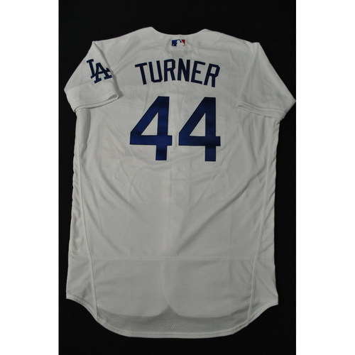 Photo of Hank Aaron Chasing the Dream Foundation: Justin Turner 2021 MLB All-Star Workout Day BP-Worn # 44 Jersey