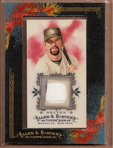 Photo of 2009 Topps Allen and Ginter Relics #TLH Todd Helton Jsy C