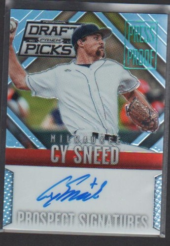 Photo of 2014 Panini Prizm Perennial Draft Picks Prospect Signatures Prizms Press Proof #75 Cy Sneed