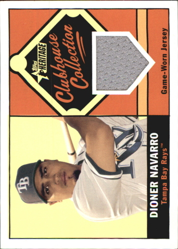 Photo of 2010 Topps Heritage Clubhouse Collection Relics #DN Dioner Navarro