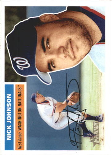 Photo of 2005 Topps Heritage White Backs #183 Nick Johnson