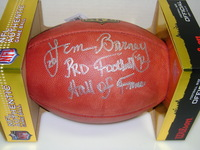 HOF - LIONS LEM BARNEY SIGNED AUTHENTIC FOOTBALL