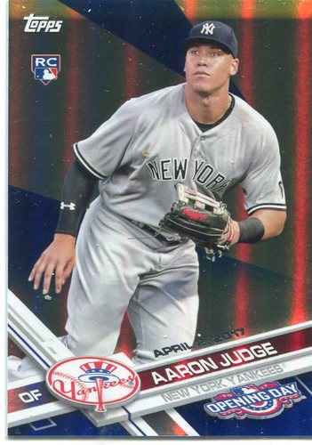Photo of 2017 Topps Opening Day Blue Foil #147 Aaron Judge