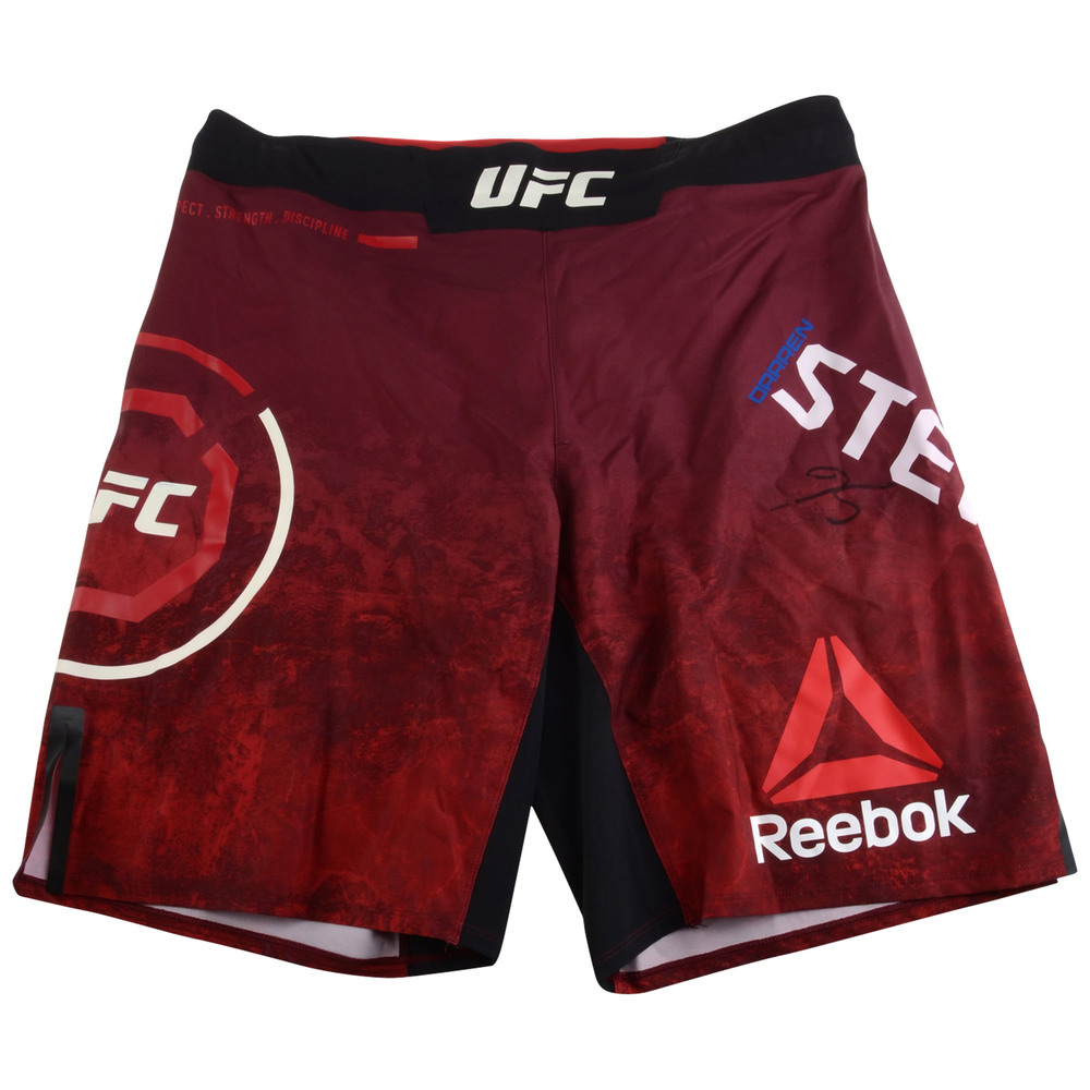 Darren Stewart Ultimate Fighting Championship Autographed UFC 228: Woodley vs. Till Fight-Worn Shorts
