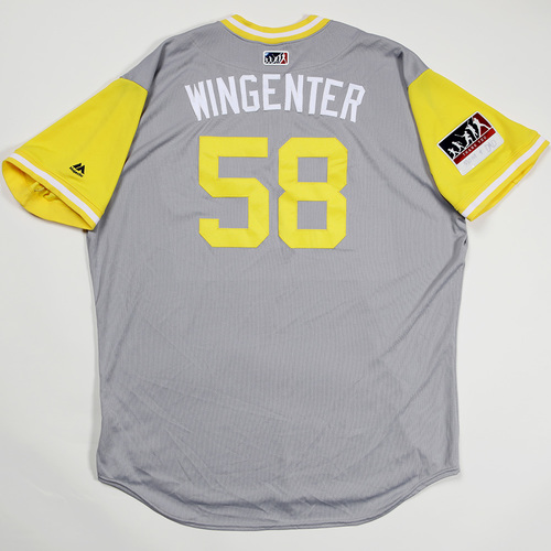"Photo of Trey ""Wingenter"" Wingenter San Diego Padres Game-Used 2018 Players' Weekend Jersey"