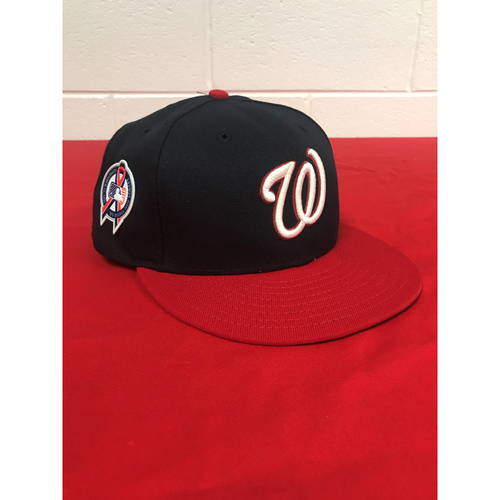 Photo of Bryce Harper Game-Used 2018 September 11 Commemorative Cap with All Star Game Patch