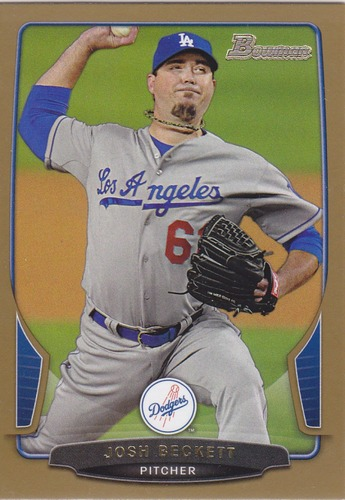 Photo of 2013 Bowman Gold #120 Josh Beckett