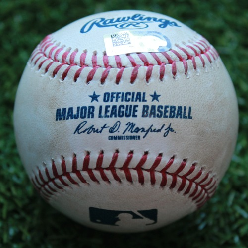 Photo of Game-Used Baseball: Guillermo Heredia 190th Career Hit and 61st Career RBI (TB @ KC - 5/2/19)