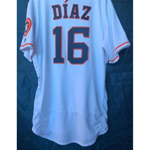 Photo of 2019 Aledmys Diaz Game-Used White Los Astros Home Jersey - Size 46