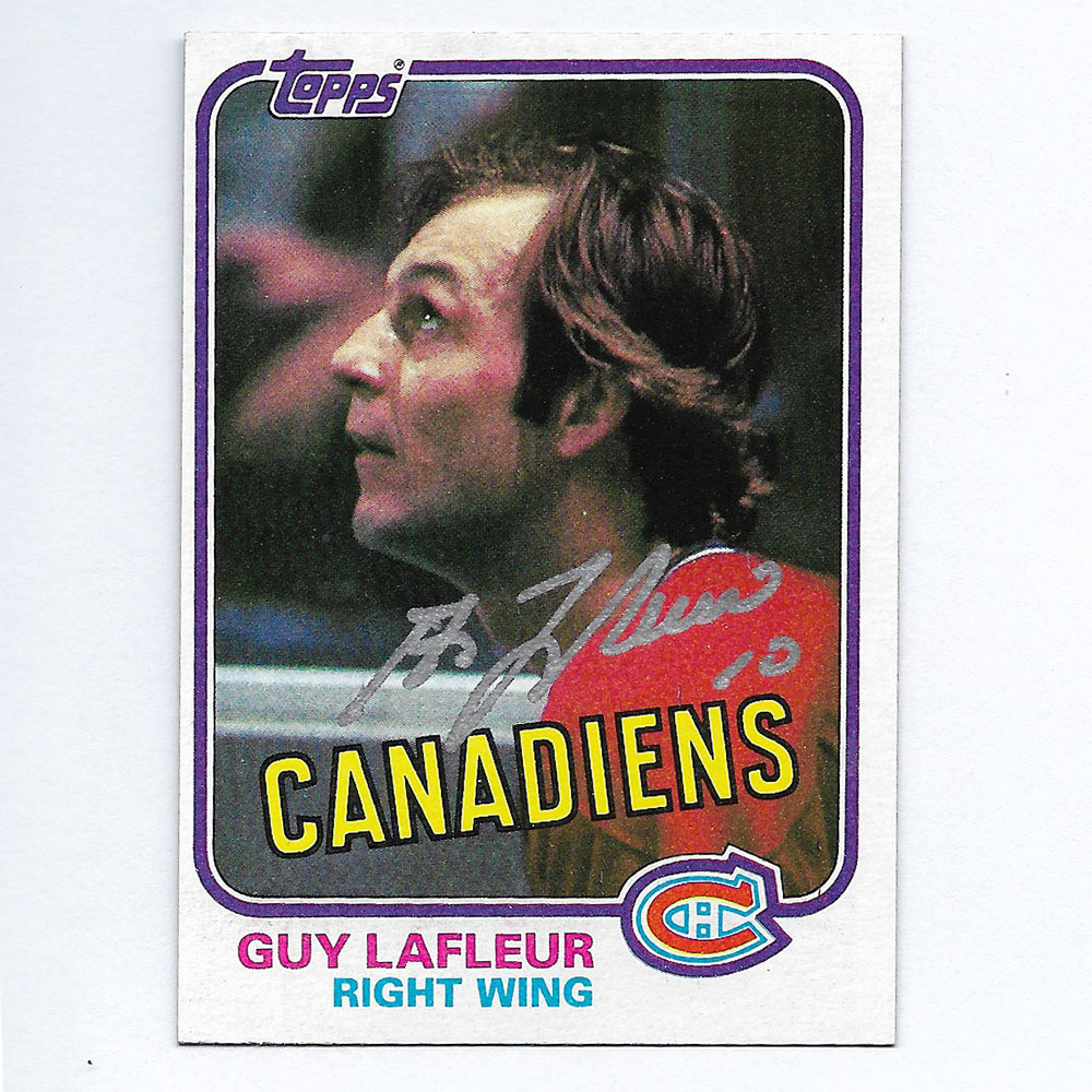 Guy Lafleur Autographed 1981 Topps Hockey Card