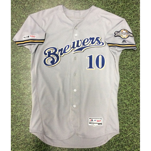 Photo of Yasmani Grandal 04/09/19 Game-Used Road Grey Jersey - 3-4, 2 HR, 3 RBI