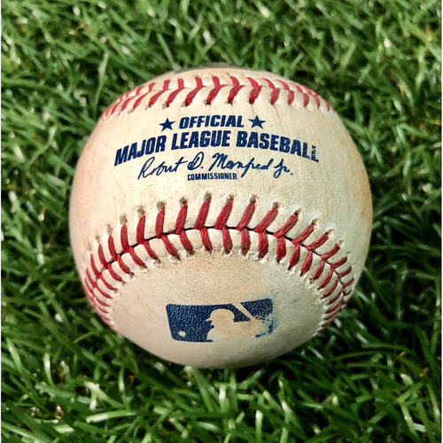 Photo of Game Used Baseball: Austin Meadows double off Adam Plutko - September 1, 2019 v CLE