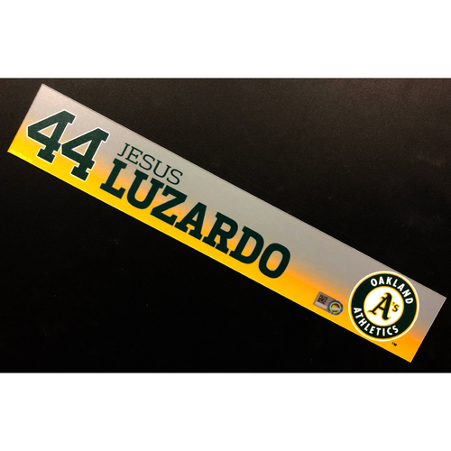 Photo of Game-Used 2020 Spring Training Locker Nameplate - Jesus Luzardo