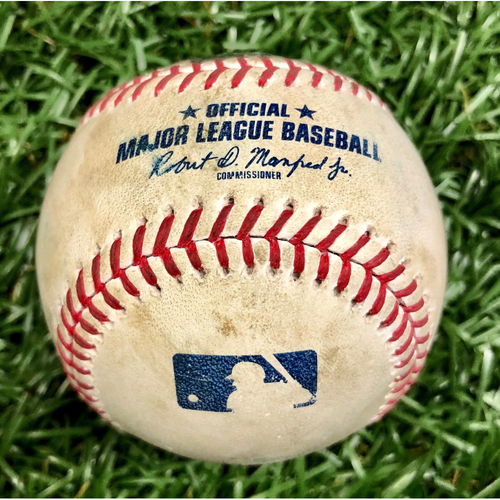 Photo of Game Used Baseball: Aaron Judge Single off Tyler Glasnow - First 7-Inning DH at Tropicana Field - Game 1 - August 8, 2020 v NYY