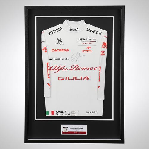 Photo of Antonio Giovinazzi 2020 Signed Race Used Nomex