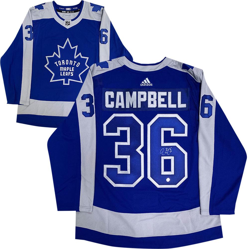 Jack Campbell Autographed Toronto Maple Leafs adidas Reverse Retro Jersey