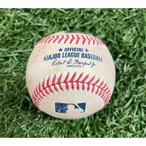 Photo of Game Used ALDS Baseball: Christian Vazquez RBI single off Michael Wacha - Alex Verdugo Scores - Top 7 - October 8, 2021 v BOS